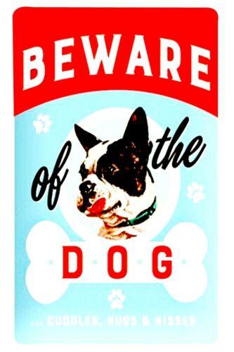 beware of dog tin metal sign wall decor designs living room