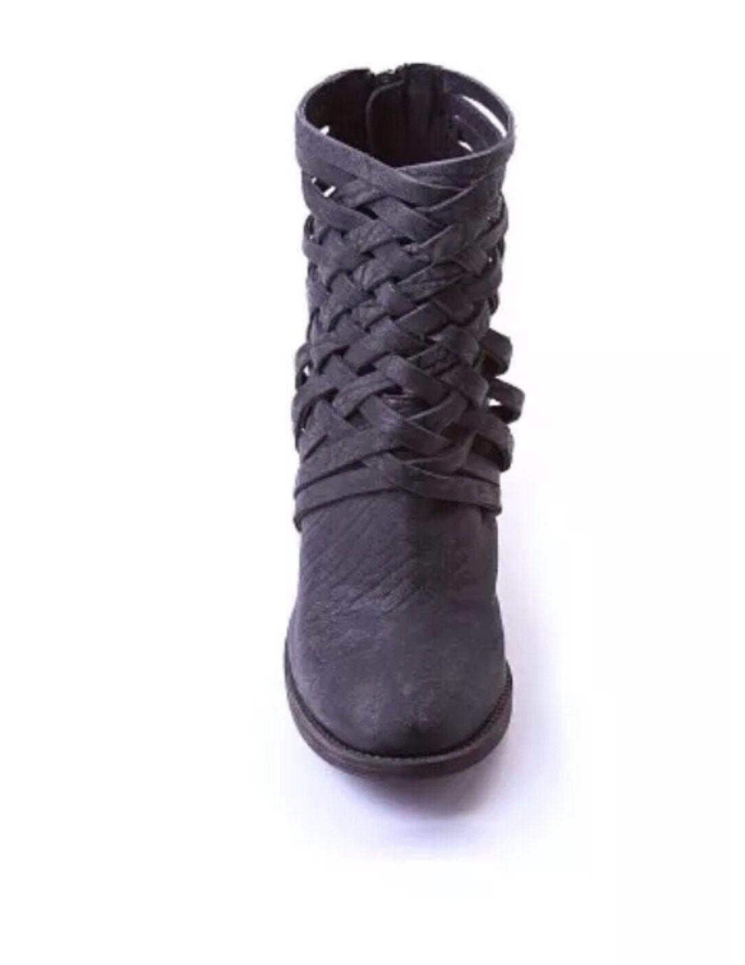 Free People para mujer Gafas De Cuero Negro botas al al al Tobillo Cremallera Con Tiras Talla 5 EUR 35 48eb78