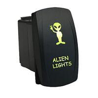 Rocker Switch 694g 12v Alien Lights Laser Etch Led On-off Green