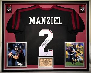 buy popular 058f3 5a950 Details about Premium Framed Johnny Manziel Autographed Texas A&M Aggies  Jersey - JSA COA