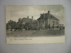 Vintage Rotograph Postcard The Catholic Academy In Adrian