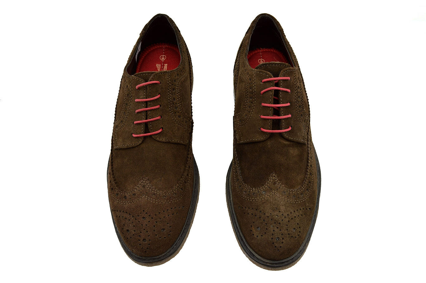 185 RED TAPE Brown Suede Leather Wingtip ORRIN Dress Dress Dress Casual Oxfords Mens shoes a60b9f