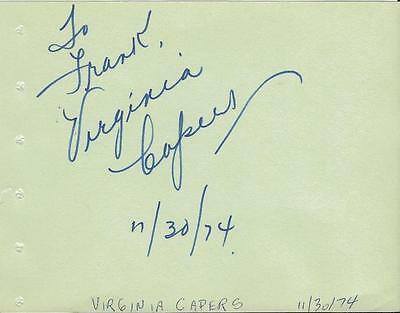 Entertainment Memorabilia Theater Logical Virginia Capers Signed Vintage Album Page Ferris Bueller's Day Off