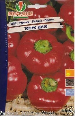 Pimiento TOPEPO ROSSO de Bola. ÑORA. Envase Hermético de 300 Semillas - Seeds