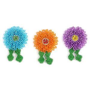 Beadworx-porte-clés Fleur Aster-perles Travail Populaire Perles De Verre-afficher Le Titre D'origine
