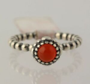 9690ac57c Image is loading NEW-Pandora-Carnelian-Ring-Sterling-Silver-Band-Women-