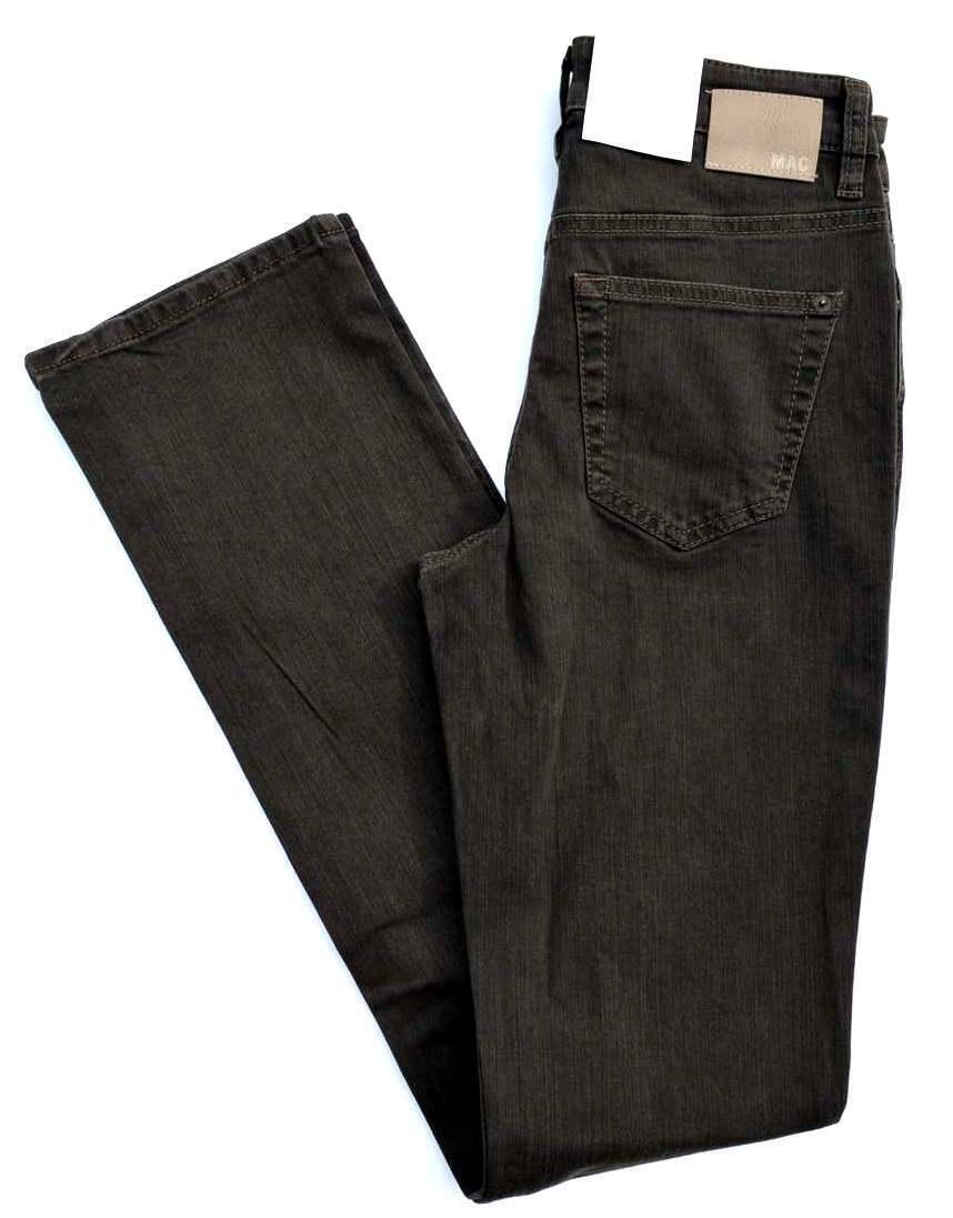 MAC Jeans ANGELA brown Stretch slim fit gerades Bein Gr.36 L 34 NEU