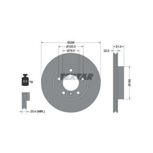 Bremsbeläge vorne für BMW E36 E46 Textar Bremsscheiben