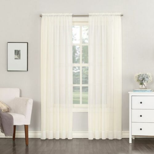 "megachest a pair of voile curtain 63/"" drop 140cm wide each UK seller"