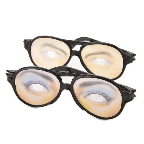 New HALLOWEEN PARTY Funny Glasses Fake Novelty Gag Prank Eye Ball Joke LM