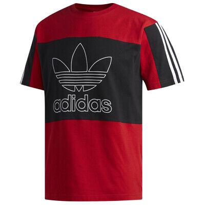 NWT Adidas Originals Men's Outline Block T-Shirt Red/Black EI7514 ...