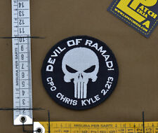 "Ricamata / Embroidered Patch C. Kyle ""Devil Of Ramadi"" with VELCRO® brand hook"