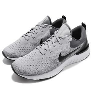da01386ef4c Nike Odyssey React Wolf Grey Black Men Running Shoes Sneakers AO9819 ...