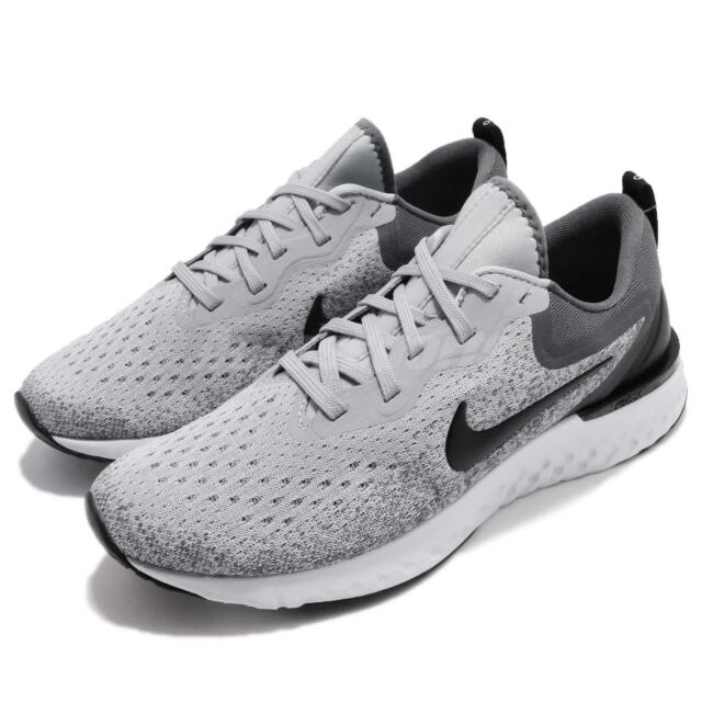 Nike Odyssey React Wolf Grey Black Men Running Shoes Sneakers AO9819-003 ae66f9537