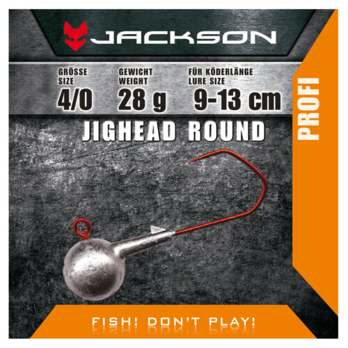 Jackson VMC jighead Jigkopf - 4 pièces Round 4/0 pour Appât Longueur 9–13 cm 21 g