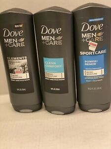 3 Dove Men Care Elements Charcoal Clay Clean Comfort Power Renew Body Wash 11111653221 Ebay