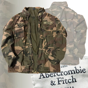 ORIGINAL-A-amp-F-Abercrombie-amp-Fitch-US-ARMY-Camo-patch-Jacke-A92-Parajumpers