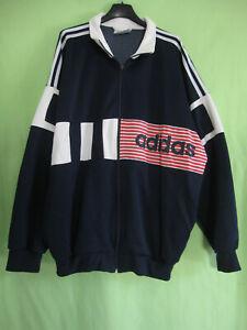 Détails sur Veste Adidas 90'S Marine rouge Blanche Vintage Jacket Football 186 XL