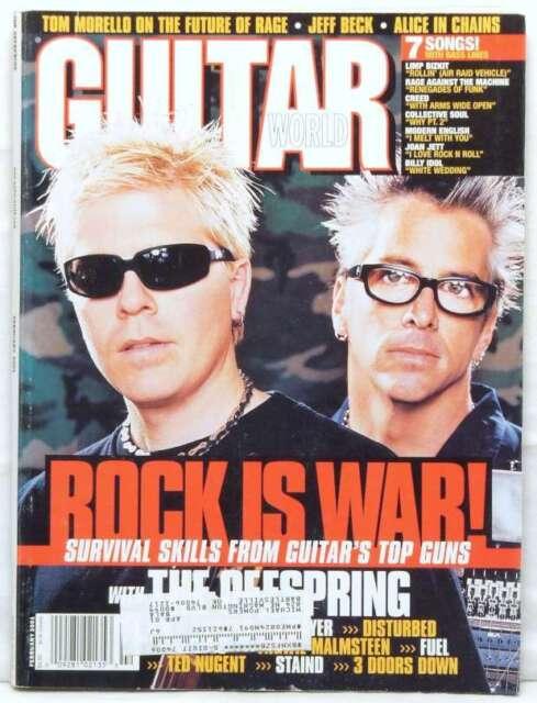 THE OFFSPRING GUITAR WORLD MAGAZINE 3 DOORS DOWN TOM MORELLO FEBRUARY 2001 RARE!