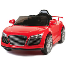 12V Kids Ride On Car Electric Power Wheels Remote Control RC Audi R8 Style Red