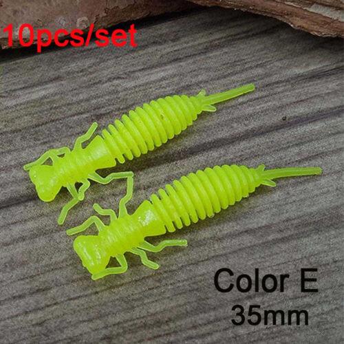 Quality Carp 35mm 50mm Worm Silicone Larva Fishing Lures Swimbait Soft Bait