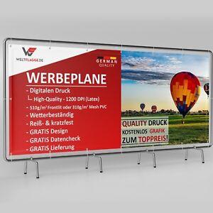 prof Design Werbebanner Werbeplane Banner LKW Plane 50x500 cm inkl