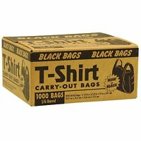 Black T Shirt Grocery Store Carry Out Plastic Shopping Bags - 1000 Ct. Case