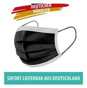 50x Mundschutz Maske Atemschutzmaske Atemmaske - in Schwarz   Händler aus DE