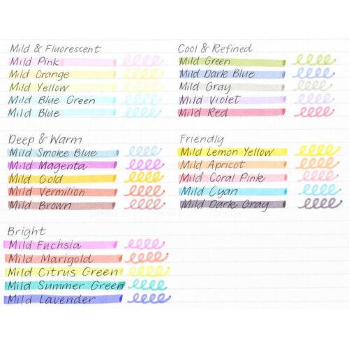 2EA Zebra mildliner Suave Color Resaltador Marcador de Doble Cara WKT7 25 Colores