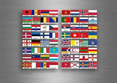 64x Aufkleber flagge fahne verschiedene europa staaten del erde r3 scrapbooking