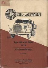 STEYR PUCH  DIESEL LASTWAGEN TYP 380 + 380 f Betriebsanleitung 1954 Handbuch BA