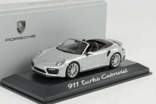 II CABRIO CABRIOLET silver argent 1:43 Herpa WAP 2015 Porsche 911 991 Turbo GEN