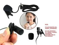 Mini Clip Collar 3.5mm Stereo AUX Plug PC Laptop Desktop Mic