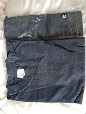 Two Mens DENIM BLUE egyptian cotton t shirt heavyweight new 8.00  size M
