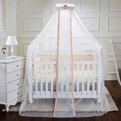 Kids Baby Cot Bed Mosquito Net Curtain Canopy Dome Mesh Nursery Summer AU008