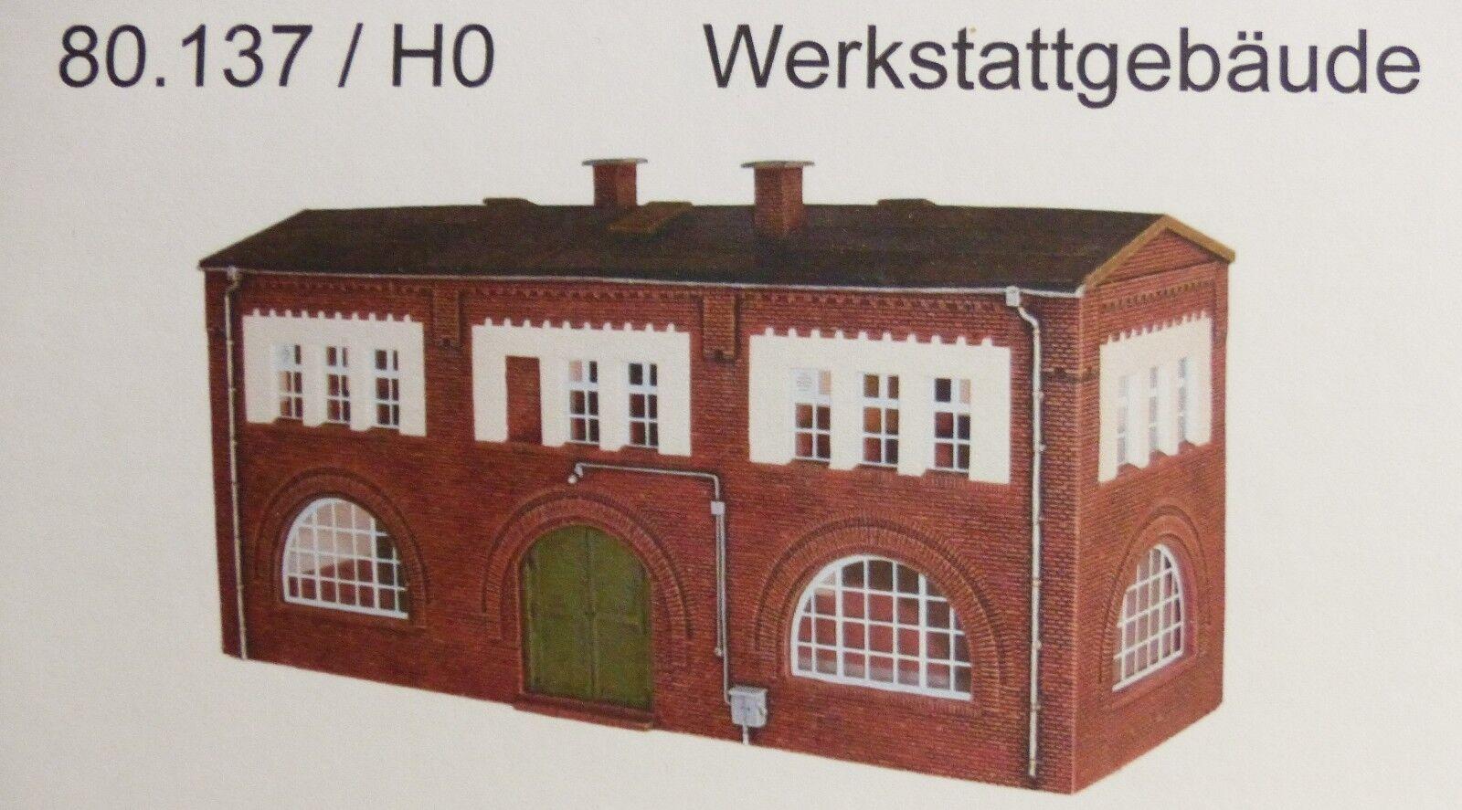 Artmaster 80.137 Werkstattgebäude  H0 1 87 Neu   OVP