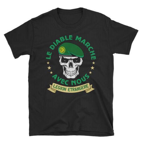 Legion Etrangere Paratrooper French Foreign Regiment T-Shirt Le Diable Avec Nous