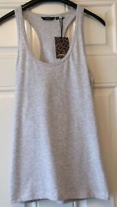 Ladies-Golddigga-Plain-Grey-Strappy-Vest-Top-Size-14-New-With-Tag-B14