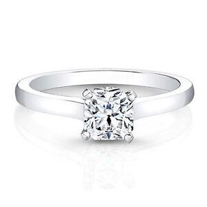 14K-White-Gold-Engagement-Ring-Size-P-D-VVS-0-60-Ct-Solitaire-Diamond-Rings