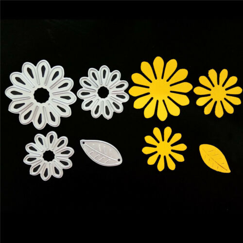 4pcs Petals Metal Cutting Dies Stencil for DIY Scrapbooking Album Paper Cards UK