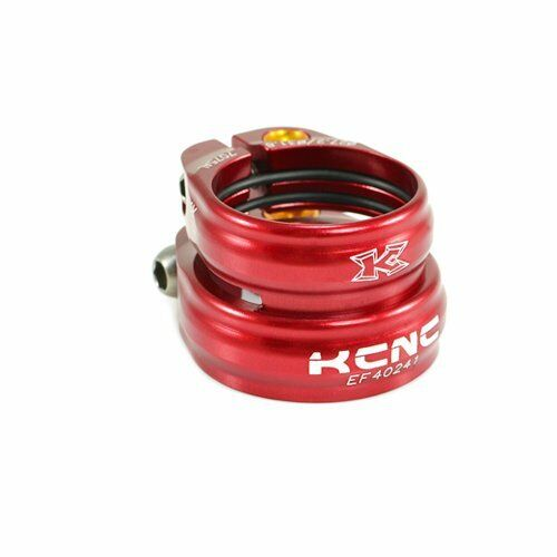 KCNC SC13 Twin Seat Post Clamp Seat Tube:31.8mm//Seat Post:27.2mm Red