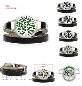 30mm-316L-stainless-Wrap-leather-Aromatherapy-diffuser-bracelet-Essential-oil