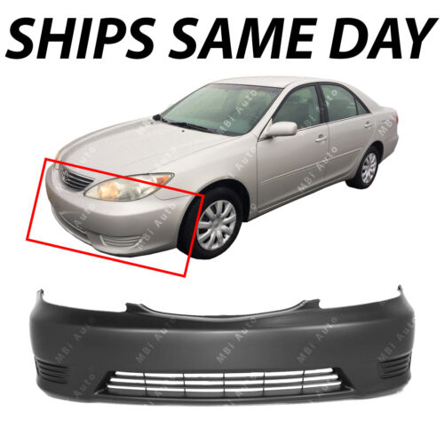 NEW Primered Front Bumper Cover for 2005 2006 Toyota Camry W//out Fog 05 06
