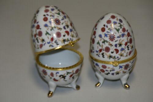 Schmuckdose Glanzlack mit  Klappvorrichtung Höhe 10 cm Porzellan Ei