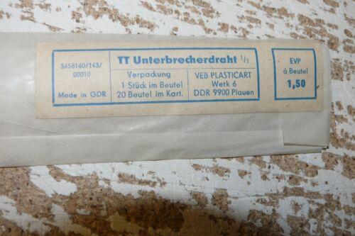 G11 Plasticart 143/10 Oberleitungs Unterbrecherdraht 1 Stück Spur TT ungenutzt