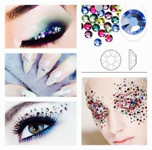 30x-Swarovski-Elements-Crystal-Rhinestones-Foiled-Mixed-Colors-SS8-SS9-SS10-SS12