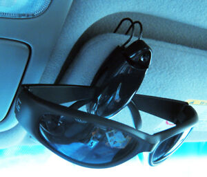 Sunglass Visor Clip Sunglasses Eyeglass Holder Car Auto Reading Glasses Black !!