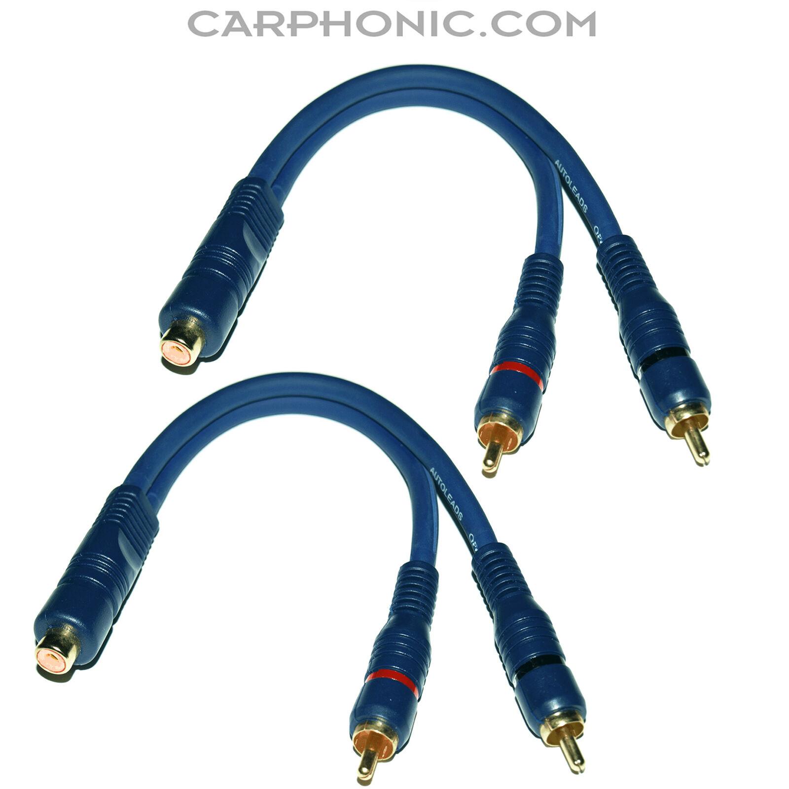 2 Stecker 2 Stück Set Kabel für Verstärker Y-Adapter Cinch Kupplung