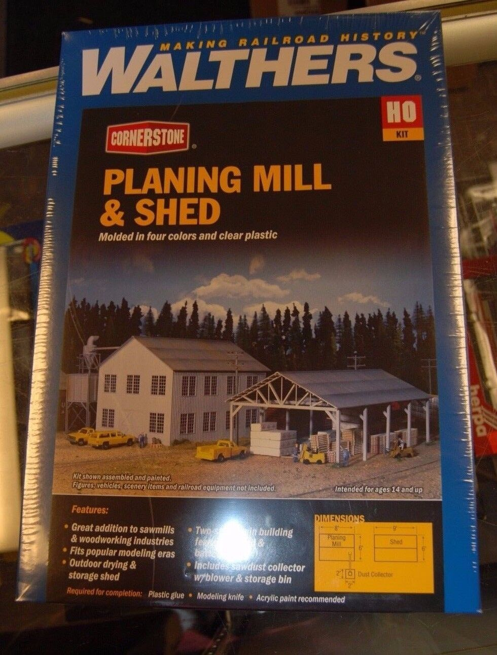HO Walthers Cornerstone kit 9333059  Planing Mill & Shed