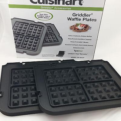 Cuisinart Griddler Accessory Waffle Plates GR-WAFP Original Box BPA Free